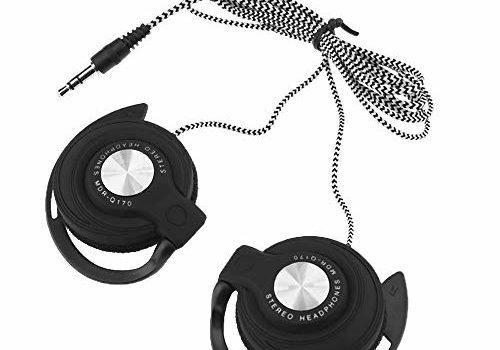 3.5mm Wired Gaming Headset On-Ear Sports Headphones Ear-Hook Music Earphones for Smartphones Tablet Laptop Desktop PC