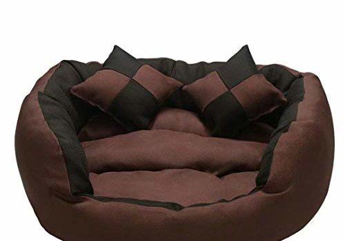 Gorgeous Pet Store Round Shape Reversible Ultra Soft Ethnic Velvet Bed for Dog/Cat (Brown Black, Medium)