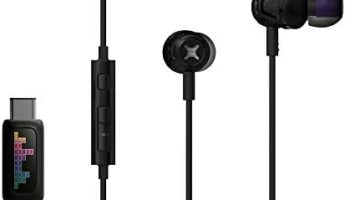 MOBEE-K Earphones Wired I USB C Earphones I Wired Earphones with Microphone I in-Ear Headphones for Workout, Online Class I in Ear Wired Earbuds with Tangle Free Cord