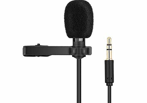 Techonto® Coller Microphone Voice Recording Filter Mic for Recording Singing Youtube on Smartphones (Black)