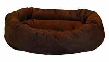 Slatters Be Royal Store Round Shape Reversible Ultra Soft Ethnic Velvet Bed for Dog/Cat (Brown, Medium)