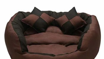 Gorgeous Pet Store Round Shape Reversible Ultra Soft Ethnic Velvet Bed for Dog/Cat (Brown Black, Small)