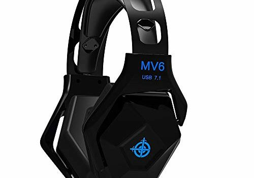 Decdeal Magic-Refiner MV6 7.1 Virtual Surround Sound Stereo Headset Wired Headphones Gaming Earphones for Computer PC