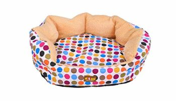 ALL4PETS Sofa Style PET Bed Multi Colour FLEES for Dogs and Cats (Medium)