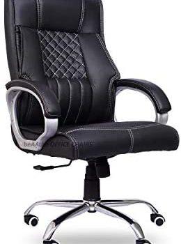 beAAtho Ergonomic Revolving Chair (Teak ,Black)