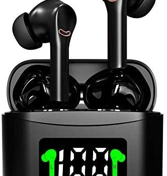 True Wireless Earbuds Active Noise Cancelling ANC Bluetooth Earbuds with mic 35H Playtime in-Ear Wireless Headphones Hi-Fi Stereo Sweatproof Earphones Sport Headsets for Running(Black)