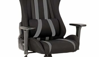Green Soul Beast Series Fabric and PU Leather Gaming/Ergonomic Chair in GS-600 (Black and Grey)
