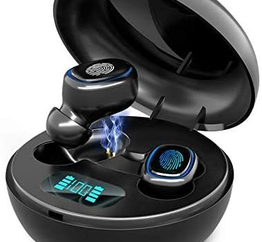 Wireless Earbuds,Upgraded Bluetooth 5.1 in-Ear Stereo Wireless Headphones,IPX7 Waterproof Wireless Earphones, 20 Hrs Sport Earbuds,Noise Cancelling Mics Earphones for iPhone and Android