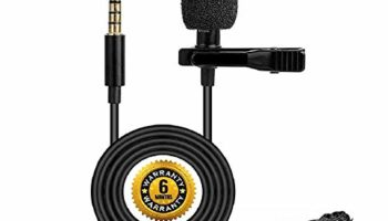 Technofill Best 3.5mm Clip Microphone Collar Mic for YouTube and Recording Mike for Voice Recording, Lapel Mic Mobile, Android Smartphones, Camera, Phone for Online Classes (Pack of 1)