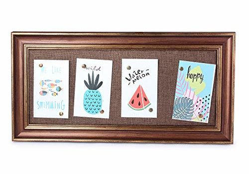 el Dios DIY Wood Finish Wall Hanging Photo Frame/Message Display Board: Easy Quick-Change Photo Collage for Home & Office – (4 Photos, Brown Colour)