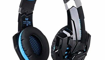 Porro Fino 7.1 Computer Gaming Headset-Over Ear for PS4, PC, Xbox One Controller, Nintendo Switch Headphones with Noise Cancelling Mic Volume Control LED Light for PC Mac Laptop