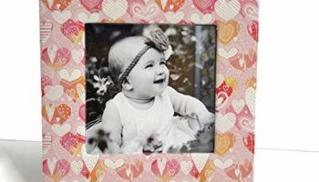 PAPER PLANE DESIGN Premium Picture Photo Frame Table Top Display 8 x 8 inch - Fits 5 x5 inch Photo (Style -6)