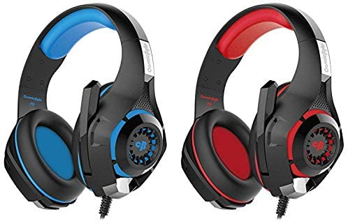 Cosmic Byte GS410 Headphones with Mic and for PS4, Xbox One, Laptop, PC, iPhone and Android Phones & Cosmic Byte GS410 Headphones with Mic (Black/Red)