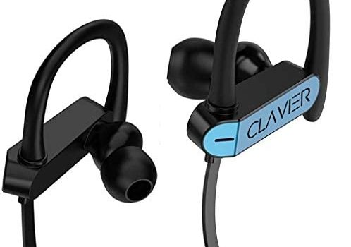 Clavier Neo in-Ear Headphones/Earphones with Stereo Mic for All Smartphones, Blue