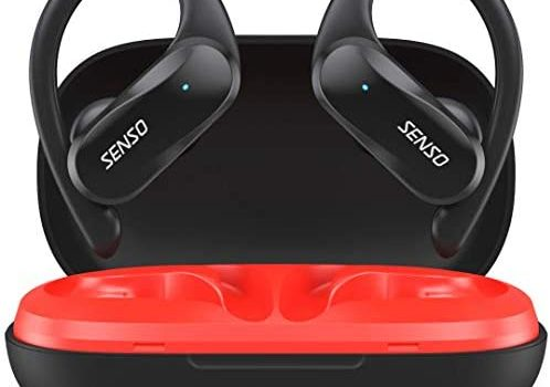 SENSO Wireless Earbud - Bluetooth True Wireless Earphones - TWS Best Sport Headphones for Workout Noise Cancelling Sweatproof Ear Buds with Mic 40 Hours Playtime for iPhone, Running, Gym