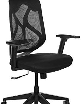 Amazon Brand - Solimo Elite High Back Mesh Office Chair (Grey)