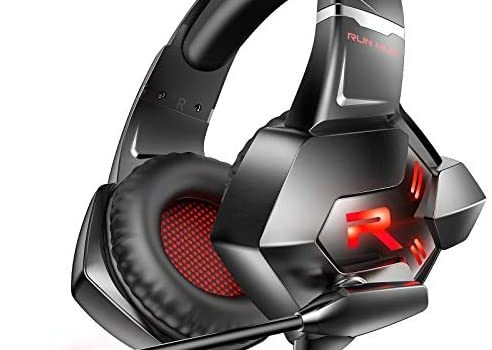 RUNMUS K11 Over-Ear 7.1 Noise Cancelling Gaming Headset with Mic, Compatible with Nintendo Switch, Xbox One, PS4, PC, Laptop & Mobile Gaming