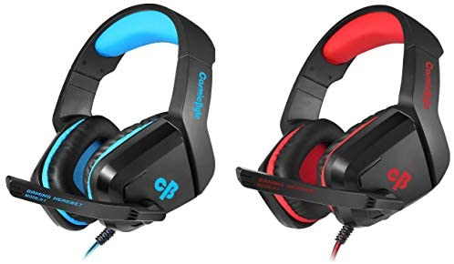 Cosmic Byte H1 Gaming Headphone with Mic for PC, Laptops, Mobile, PS4, Xbox One (Blue)&Cosmic Byte H1 Gaming Headphone with Mic for PC, Laptops, Mobile, PS4, Xbox One (Red)