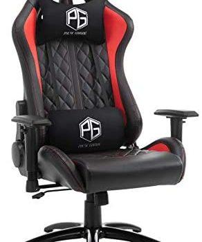 Pulse gaming Ergonomic Chair (Metal; PU Leather Black)
