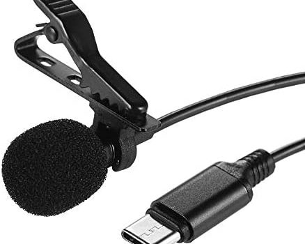 Xtreme Acoustics 2mtr-6mtr Lavalier Clip-on Microphone Type C Cable for Vloggers/Online Tutors/Journalists/podcasters (6 MTR)