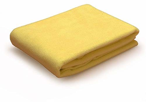 Maissen Waterproof Reusable Washable Pee Pads & Hygenic Pet Dry Sheet - Couch/Sofa/Bed/Mattress, Puppy Crate Training & Car Seats Protector for Dogs, Cats & All Pets – Yellow, Medium (100cm x 70cm)