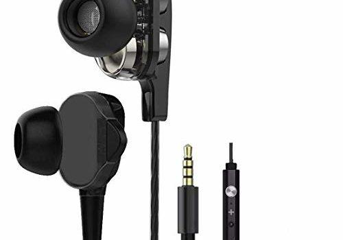 In-Ear Headphone For Huawei P Smart+ (nova 3i) In- Ear Headphone | Earphones | Handsfree | Headset | Universal Headphone | MIC | Music with 3.5mm Jack | Calling Function | Microphone| Bass Bost Sound | Round Wired Earphone| Original Earphone like Performance Best High Quality Sound Earphones R30 - Black