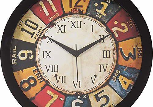 EpochCrafts 12-inch Antique Wall Clocks Home Living Room (Silent Movement, Black Frame)